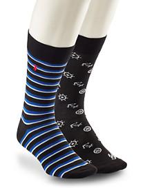 Polo Ralph Lauren® 2-pk Nautical Print Socks