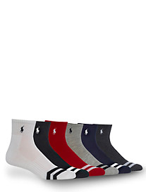 Polo Ralph Lauren® 6-pk Sport Chevron Quarter-Top Socks