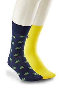 Polo Ralph Lauren® 2-pk Tossed Turtle Socks
