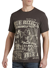 True Religion® Cut-Up Buddha Tee