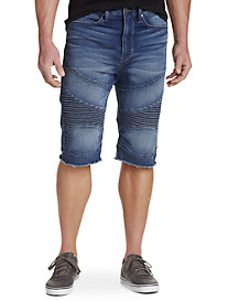 True Religion® Moto-Inspired Cutoff Shorts – Cloud Cast Wash