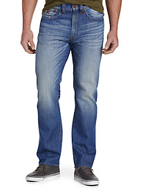 True Religion® Ricky Straight Jeans – Blue Metal Wash