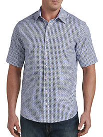 Twenty-Eight Degrees Circle Print Sport Shirt