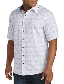 Twenty-Eight Degrees Tropical Print Sport Shirt