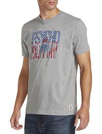 Psycho Bunny® American Flag Logo Graphic Tee