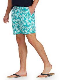 Psycho Bunny® Large Bunny-Print Swim Trunks