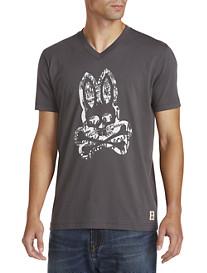 Psycho Bunny® Graffiti Bunny V-Neck Graphic Tee