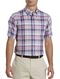 Brooks Brothers® Plaid Irish Linen Sport Shirt