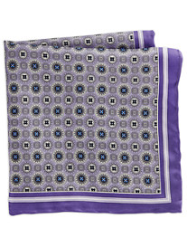 Rochester Circle Floral Medallion Silk Pocket Square