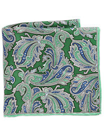 Rochester Abstract Paisley Silk Pocket Square