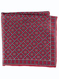 Rochester Geometric Floral Silk Pocket Square