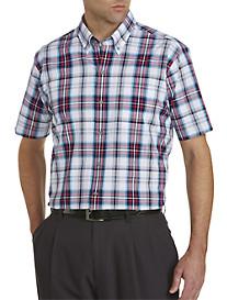 Cutter & Buck® Wrinkle-Free Nicolai Plaid Poplin Sport Shirt