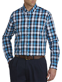 Cutter & Buck® Lake Plaid Poplin Sport Shirt