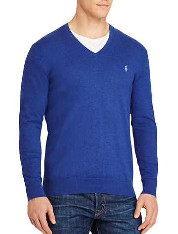 Polo Ralph Lauren® Cotton/Cashmere V-Neck Sweater | Sweaters & Vests