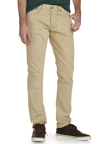 Polo Ralph Lauren® Hampton Straight-Fit Lightweight Sander Wash Jeans - Available in anderson