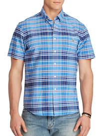 Polo Ralph Lauren® Plaid Oxford Sport Shirt (blue navy)