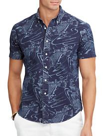 Polo Ralph Lauren® Indigo Fish-Print Sport Shirt