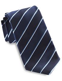 Jack Victor® Thin Triple Stripe Silk Tie