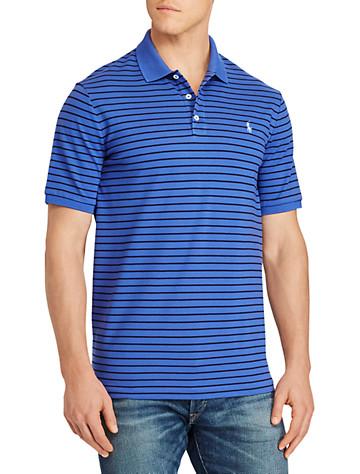 Polo Ralph Lauren® Stripe Stretch Mesh Polo (liberty blue navy)