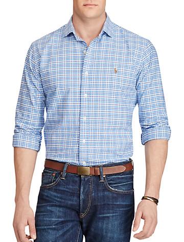 Polo Ralph Lauren® Plaid Oxford Sport Shirt (azure navy)