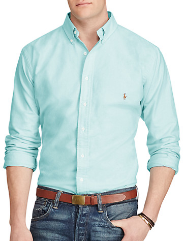 Polo Ralph Lauren® Solid Oxford Sport Shirt (agean blue)