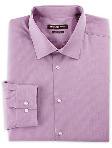 Michael Kors® Micro Check Dress Shirt (magenta pink)
