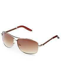 True Nation® Goldtone Aviator Sunglasses