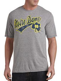 Retro Brand Notre Dame Heather Collegiate Team Tee