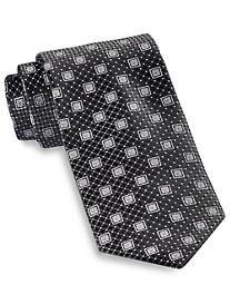 Rochester Medium Diamond Medallion Silk Tie
