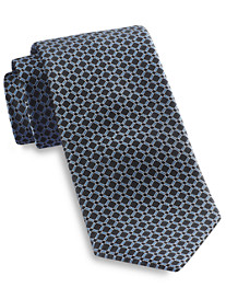 Rochester Medium Contrast Grid Silk Tie