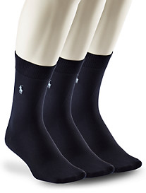 Polo Ralph Lauren® 3-pk Super-Soft Crew Socks