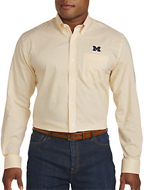 Cutter & Buck® University of Michigan Mini Check Sport Shirt