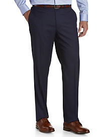 Michael Kors® Mini Grid Flat-Front Suit Pants