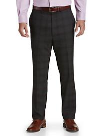 Tallia Orange Plaid Flat-Front Suit Pants
