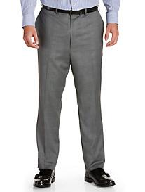 Tallia Orange Glen Plaid Flat-Front Suit Pants