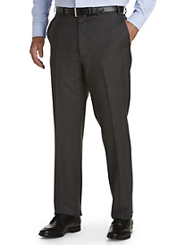 Ralph by Ralph Lauren Comfort Flex Plaid Flat-Front Suit Pants