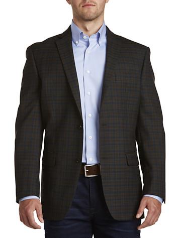Michael Kors® Plaid Sport Coat (brown navy)