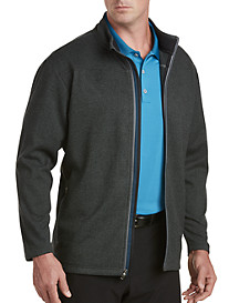 adidas Golf Textured Fleece Full-Zip Jacket