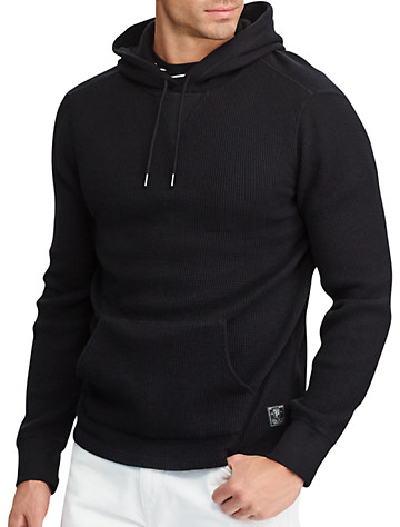 Polo Ralph Lauren® Waffle Cotton-Blend Hoodie - ( Long Sleeve Knits )