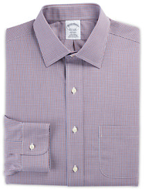 Brooks Brothers® Non-Iron Mini Check Broadcloth Dress Shirt