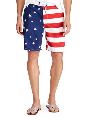 Polo Ralph Lauren® Kailua Flag Swim Trunks - Available in americana
