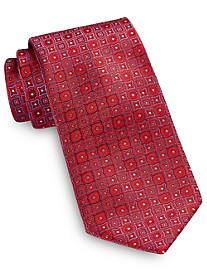 Brioni Medium Geo Medallion Silk Tie