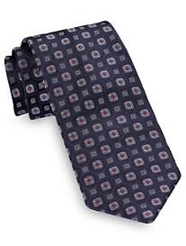 Brioni Medium Boxed Medallion Silk Tie