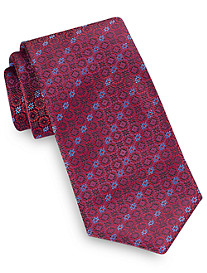 Brioni Digital Circle Neat Silk Tie