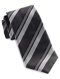 Brioni Wide Heather Stripe Silk Tie