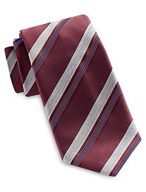 Brioni Wide Heather Stripe Silk Tie