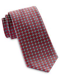 Brioni Textured Grid Neat Silk Tie