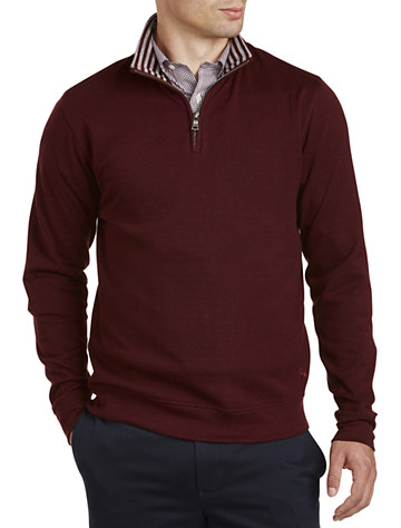 Brooks Brothers® Doubleface Half-Zip Pullover | Sweaters & Vests