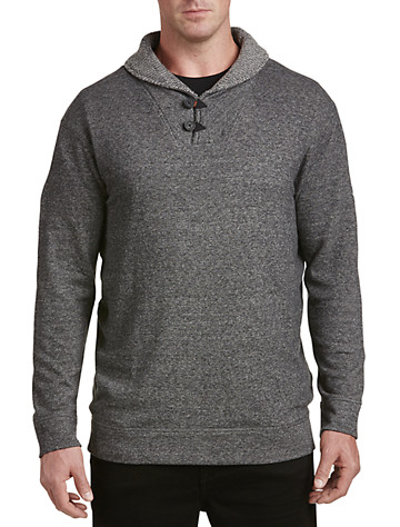 Rochester Heather Terry Shawl-Collar Pullover - ( Long Sleeve Knits )