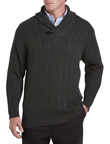 Rochester Shawl-Collar Cable Sweater | Sweaters & Vests